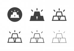 Gold Bar Icons - Multi Series