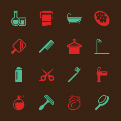 Personal Care Icons - Color Series | EPS10