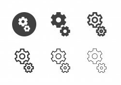 Gear Icons - Multi Series