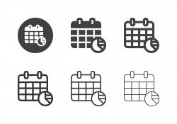 Calendar Analysis Icons - Multi Series