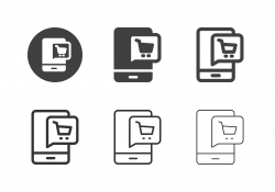 Mobile Shopping Icons - Multi Series