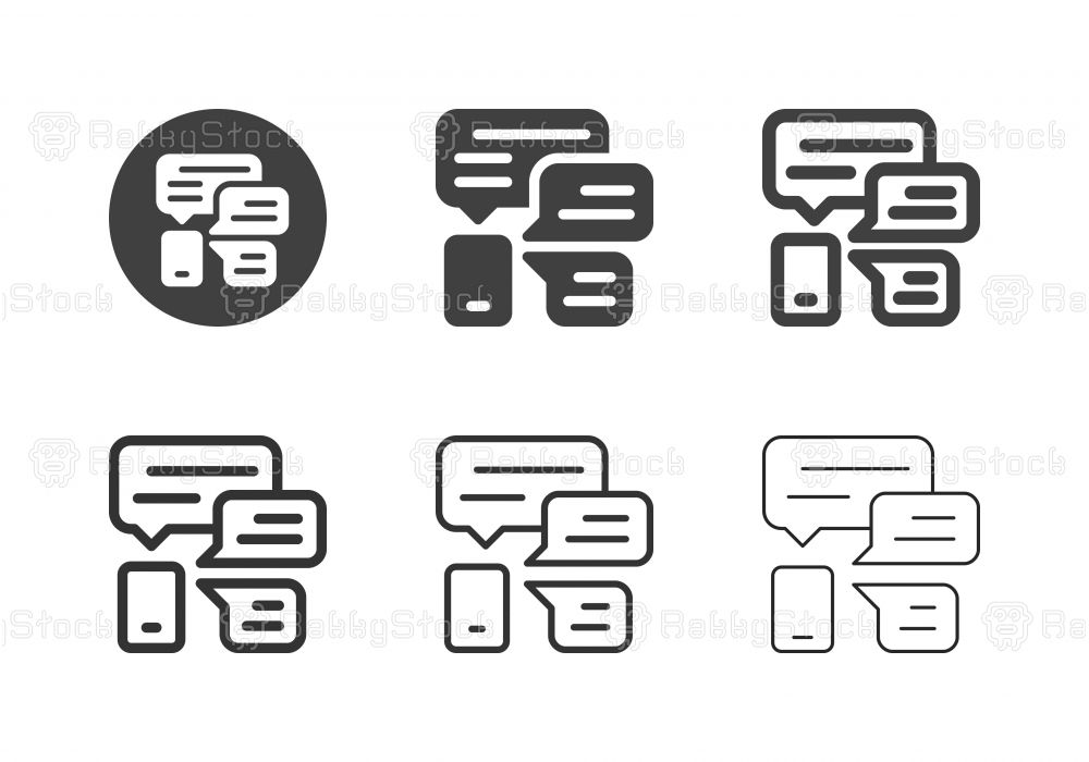 Mobile Talk Icons - Multi Series