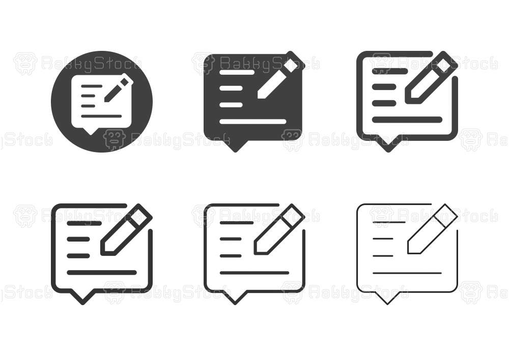 Social Media Editor Icons - Multi Series