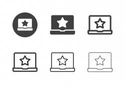 Online Rating Star Icons - Multi Series