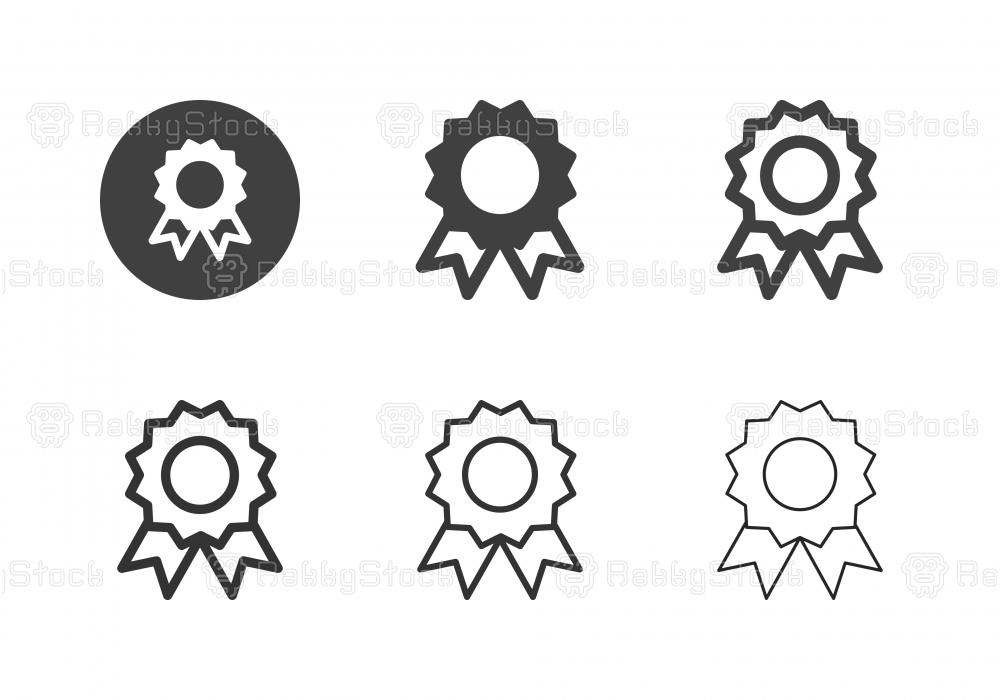 Award Ribbon Icons - Multi Series