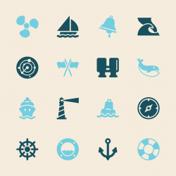 Nautical Icons - Color Series | EPS10
