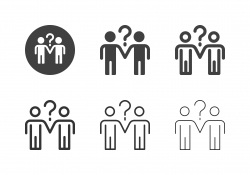 Human with Question Mark Icons - Multi Series