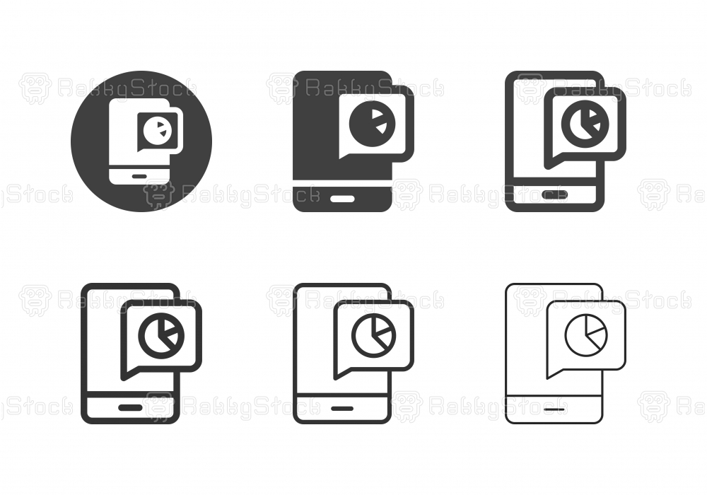Mobile Analysis Icons - Multi Series
