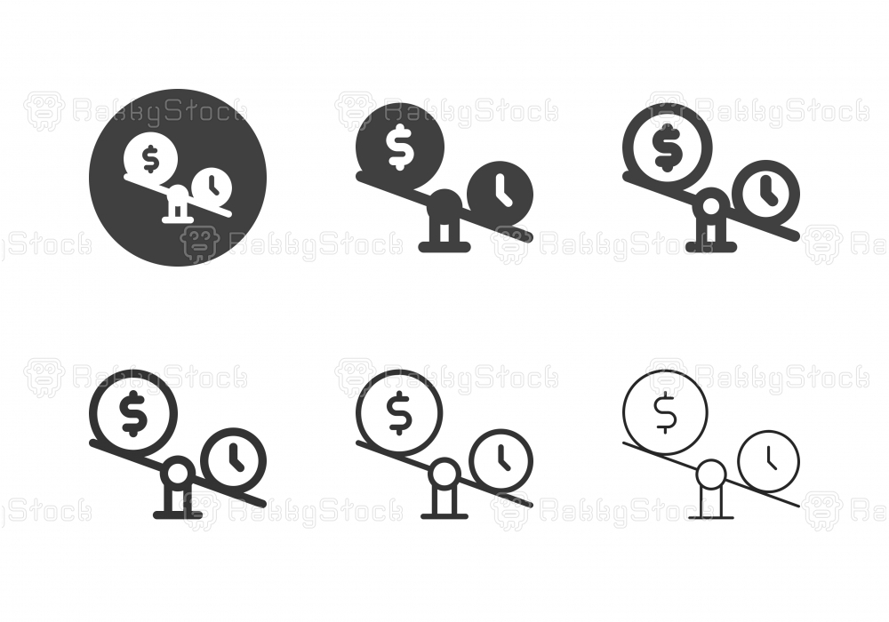 Money Balance Icons - Multi Series