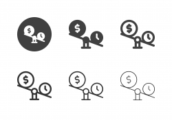 Money Balance Icons - Multi Series