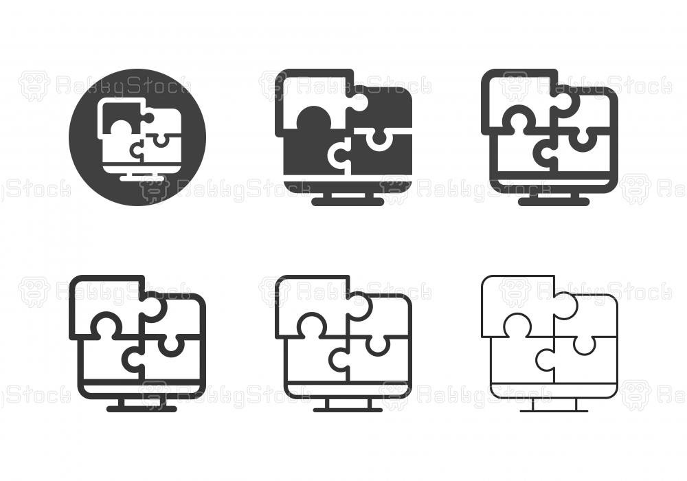 Computer Puzzle Icons - Multi Series