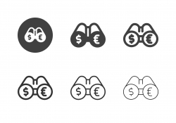 Money Extrapolation Icons - Multi Series