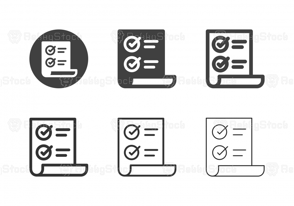 Document Form Icons - Multi Series