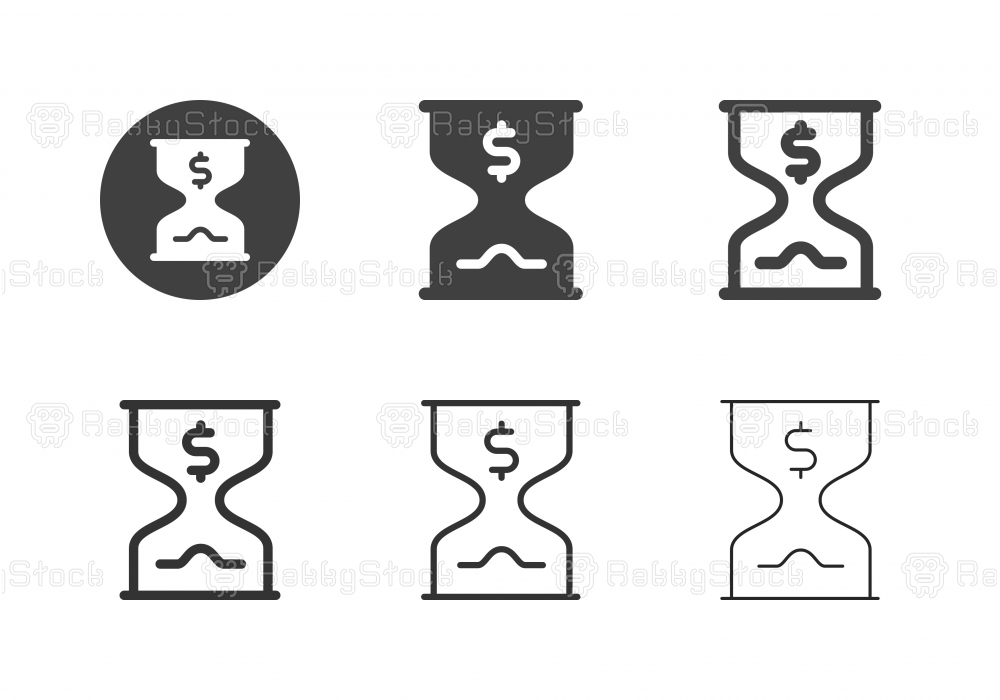 Time is Money Icons - Multi Series