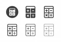 Calculator Icons - Multi Series