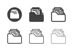 Document Folder Icons - Multi Series