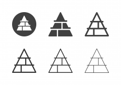 Pyramid Chart Icons - Multi Series