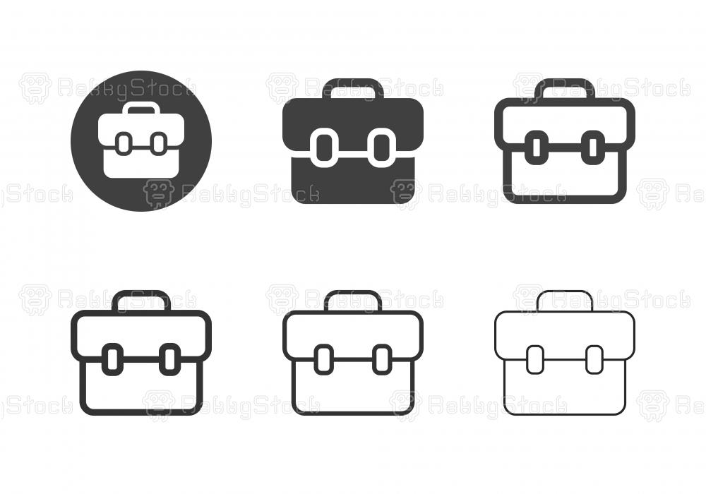 Briefcase Icons - Multi Series
