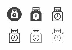 Clocking Machine Icons - Multi Series