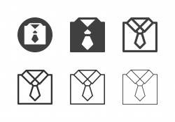 Shirt with Necktie Icons - Multi Series