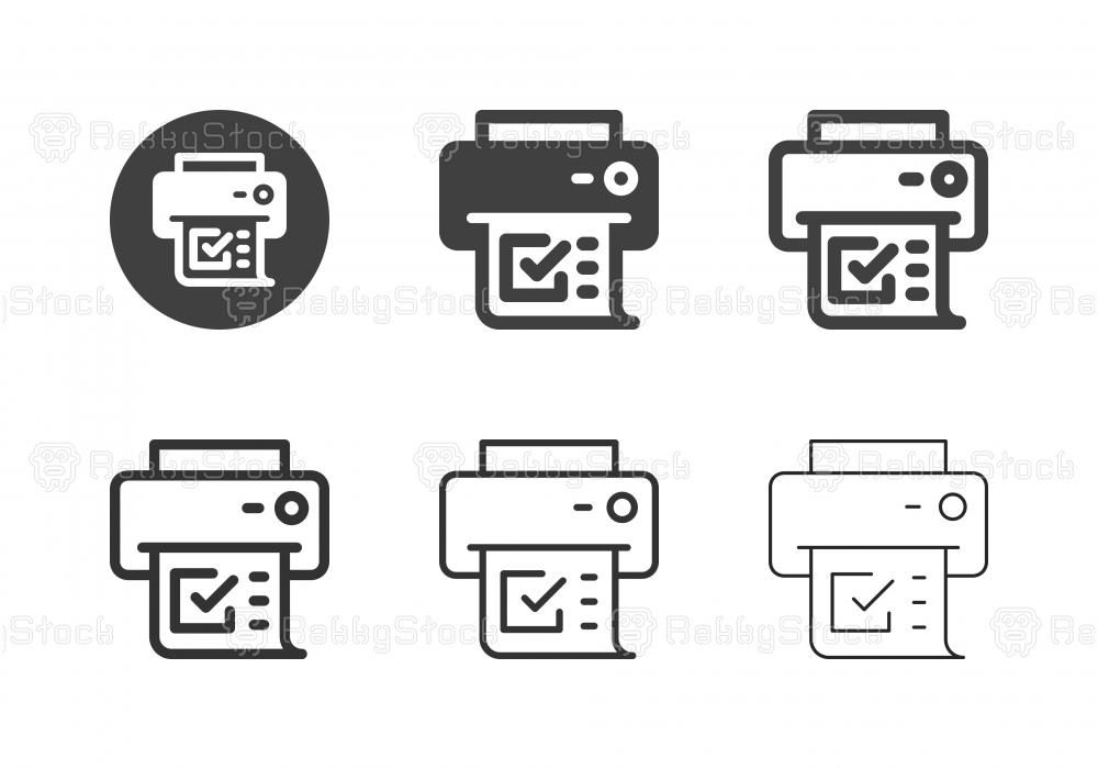 Computer Printer Icons - Multi Series