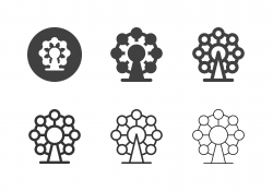 Ferris Wheel Icons - Multi Series