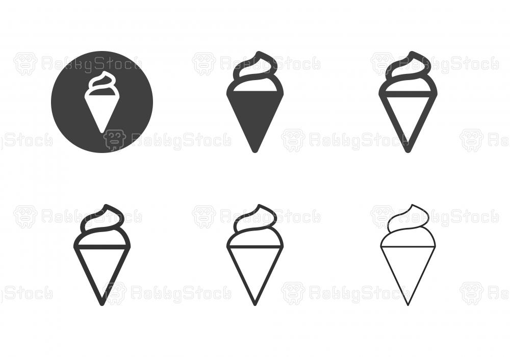 Ice Cream Cone Icons - Multi Series