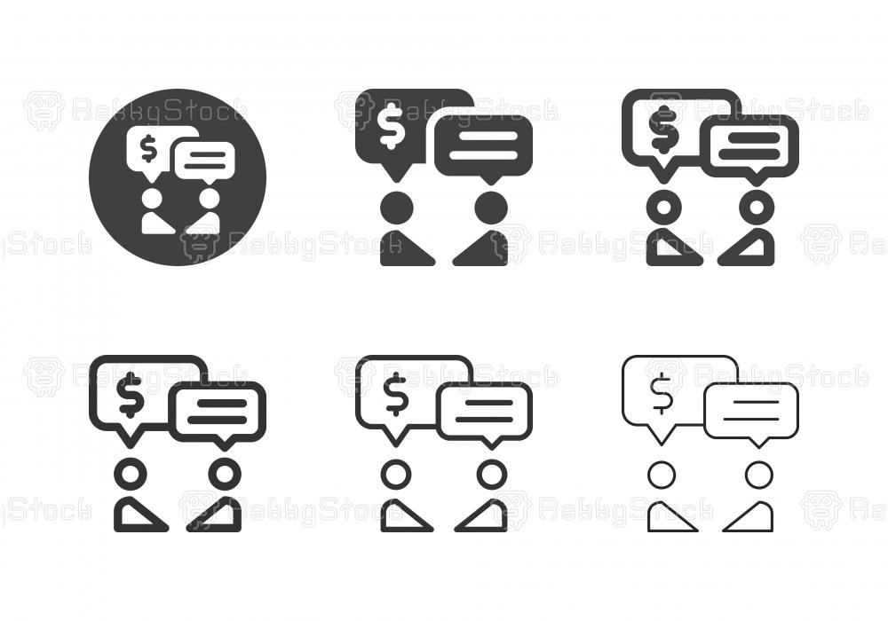 Financial Talk Icons - Multi Series