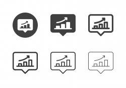 Bar Graph Bubble Icons - Multi Series