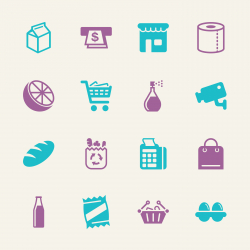 Supermarket Icons - Color Series   EPS10