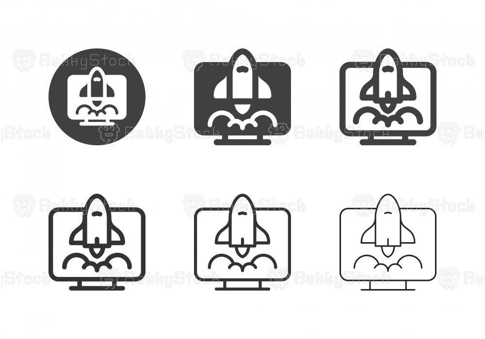 Online Business Startup Icons - Multi Series