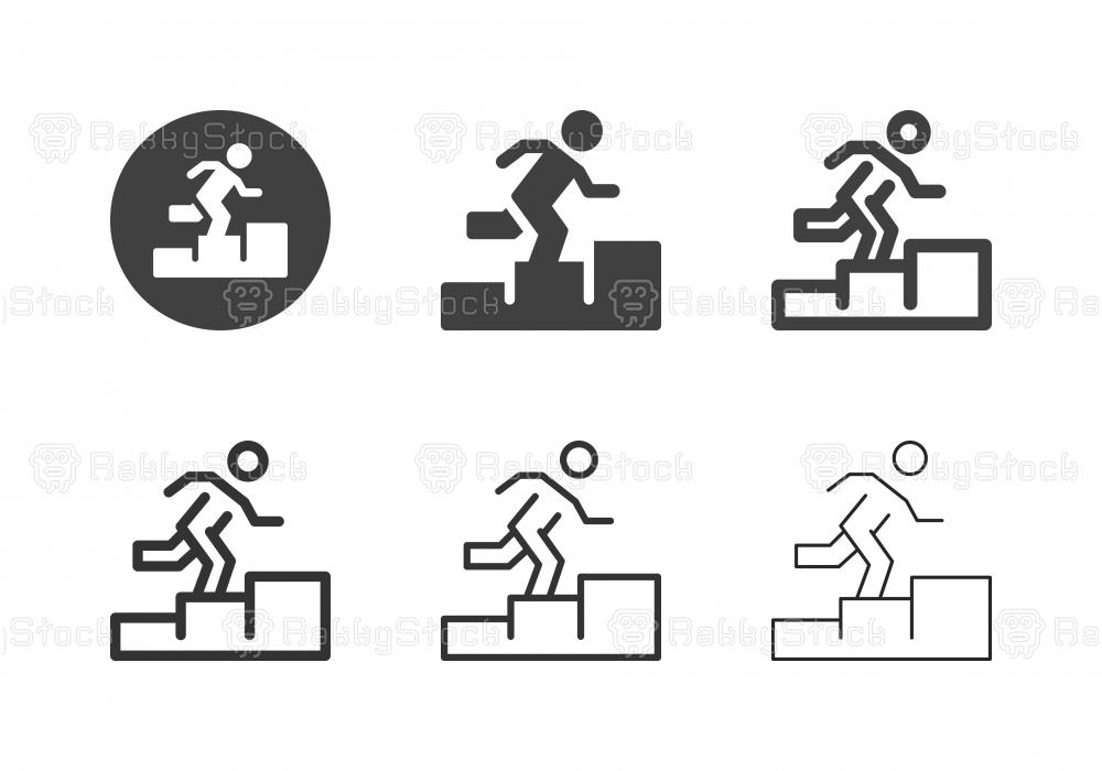Human Step Icons - Multi Series
