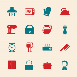 Kitchen Utensils Icons - Color Series | EPS10