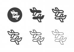 Airplane Icons - Multi Series
