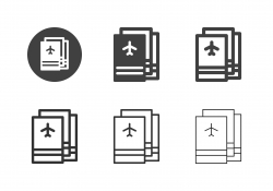 Airplane Ticket Icons - Multi Series