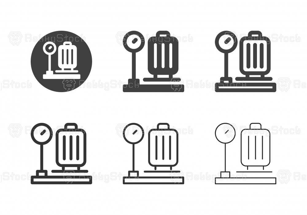 Luggage Weight Icons - Multi Series