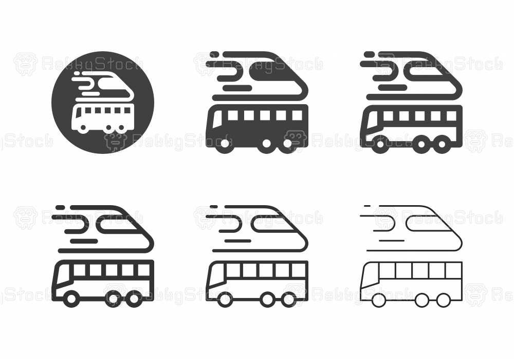 Public Transportation Icons - Multi Series