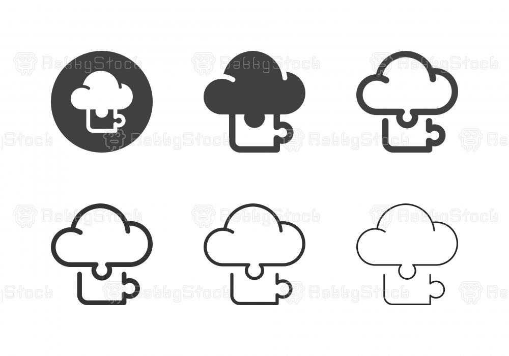 Cloud Puzzle Icons - Multi Series