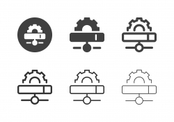 Network Server Setting Icons - Multi Series