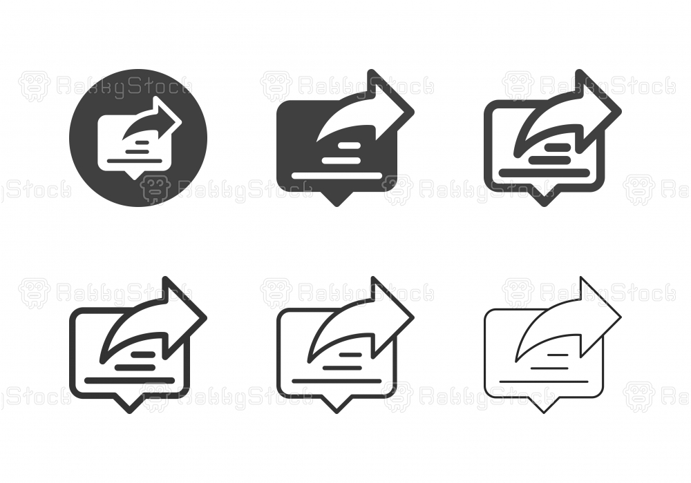 Content Sharing Icons - Multi Series