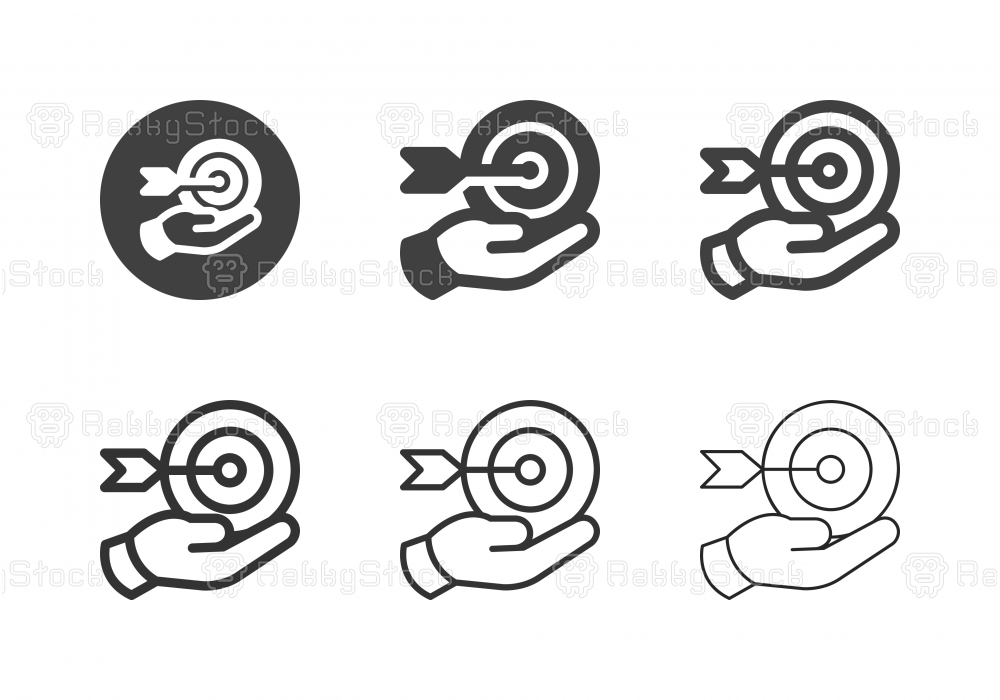 Hand Holding Target Icons - Multi Series