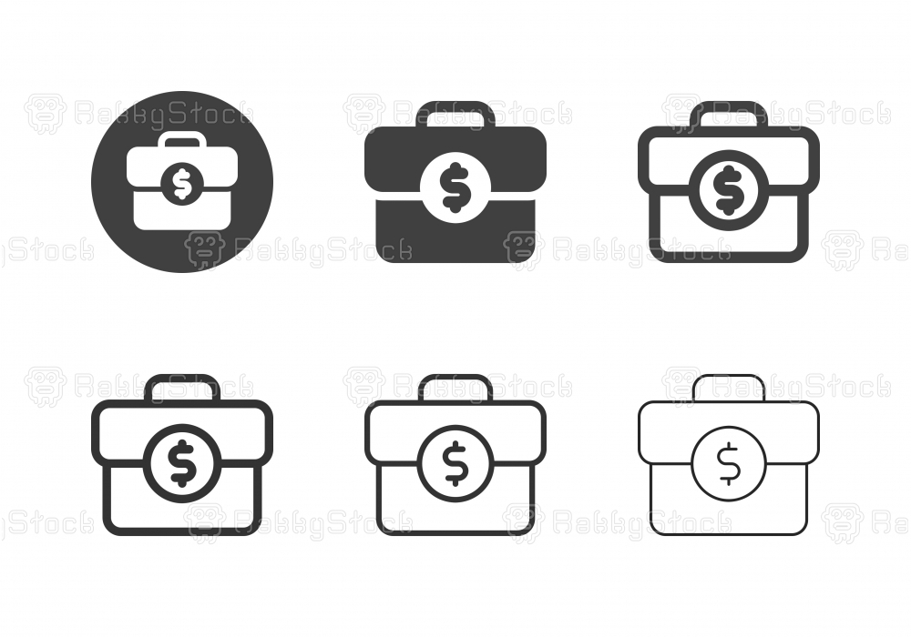 Business Briefcase Icons - Multi Series