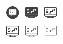 Digital Financial Step Icons - Multi Series