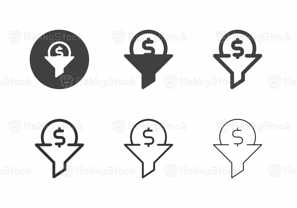 Money Filtration Icons - Multi Series