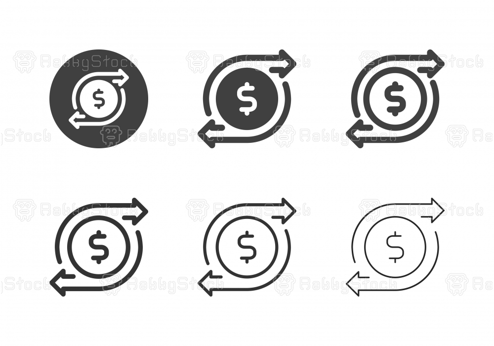 Financial Flow Icons - Multi Series