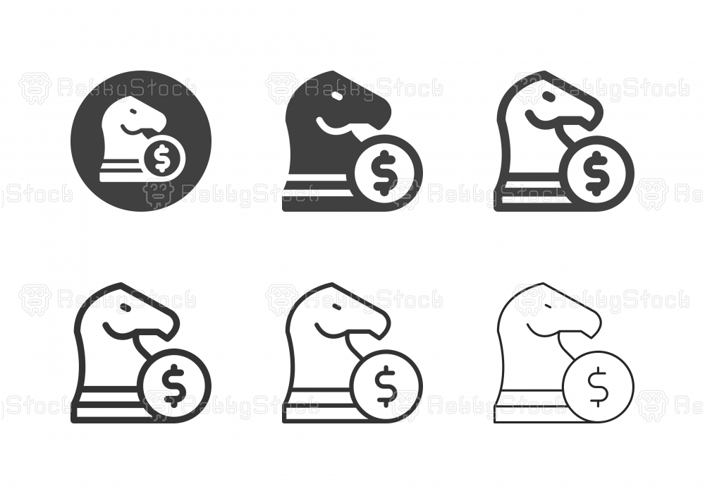 Financial Strategy Icons - Multi Series