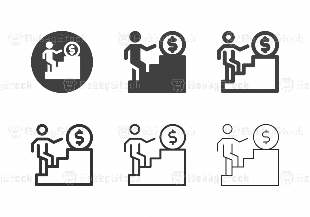 Financial Ladder Icons - Multi Series