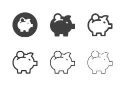 Piggy Bank Icons - Multi Series