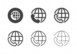 International Call Icons - Multi Series