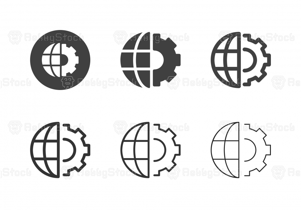 Global Management Icons - Multi Series